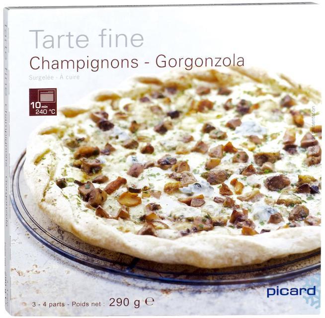 ピカール キノコとゴルゴンゾーラチーズの薄生地タルト