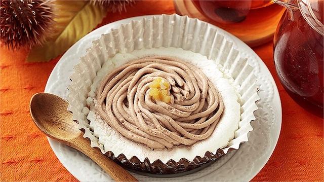 和栗のモンブランケーキ