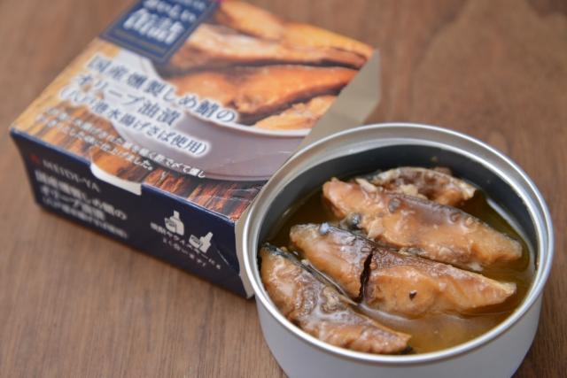 明治屋「国産燻製しめ鯖のオリーブ油漬」