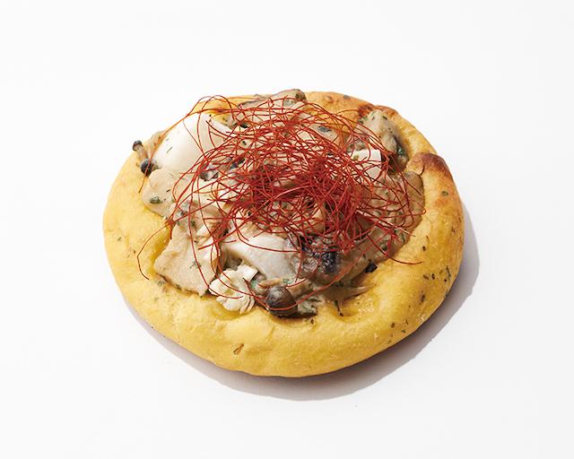 キノコと長芋のフォカッチャ