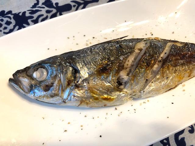 オリーブハーブソルト マジョラム 焼き魚