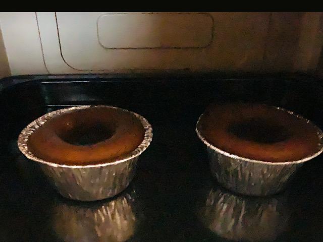 オーブンに入ったモアローショコラ
