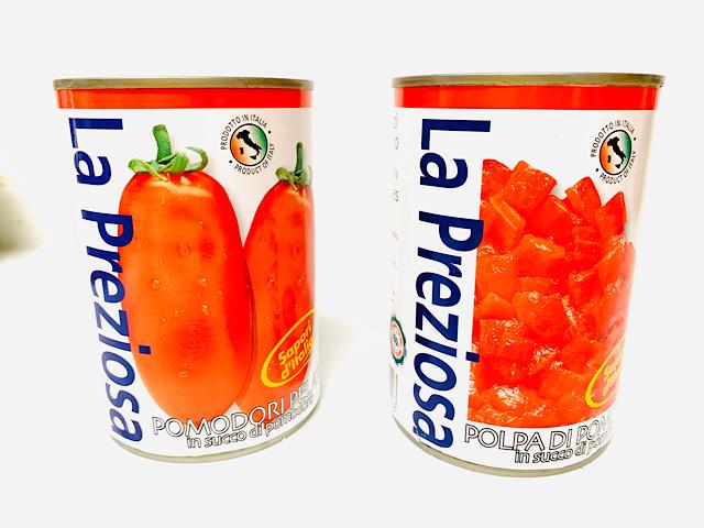 『ラ・プレッツィオーザ』ホールトマト、ダイストマト