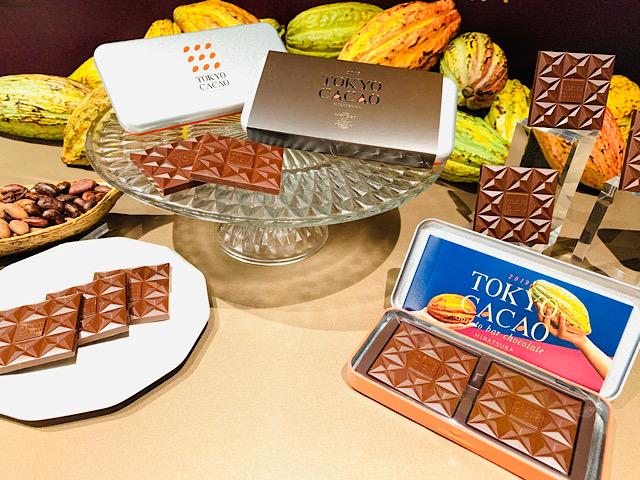 カカオ、チョコレート、パッケージのディスプレイ