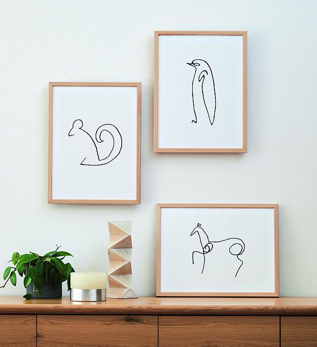 ピカソのシンプル動物アート