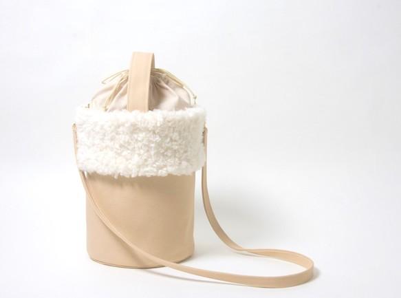 ふわふわファーバケツバッグ