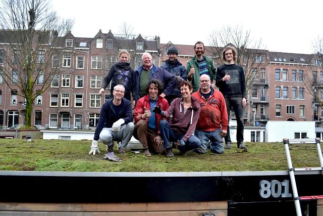 ハウスボートの屋上緑化を進める「Grachten van Smaragd」
