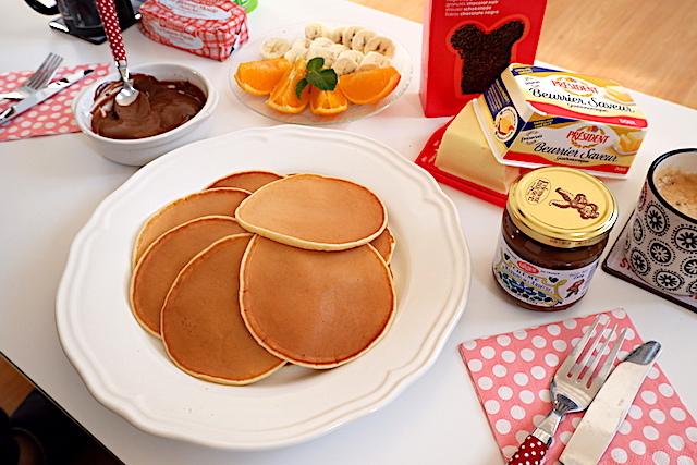 パンケーキ 朝食 レシピ 発酵バター トッピング