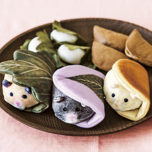 和菓子のハムスターポーチ