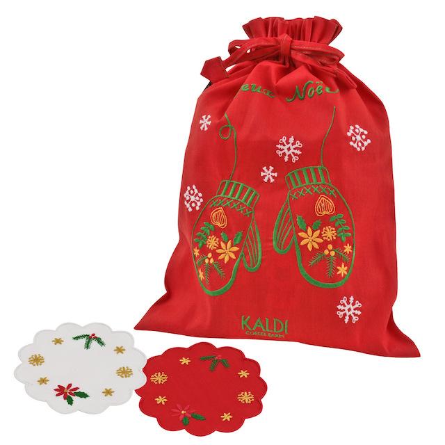 クリスマス巾着赤