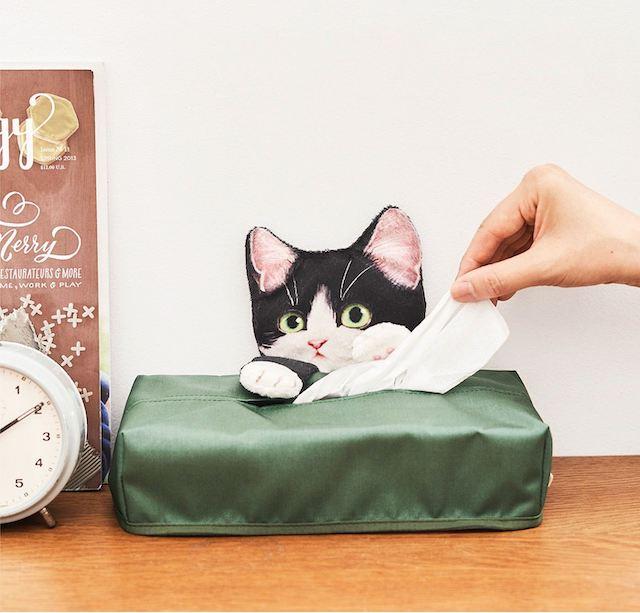 猫のティッシュカバー