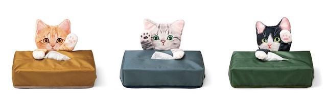 猫のティッシュボックス3種