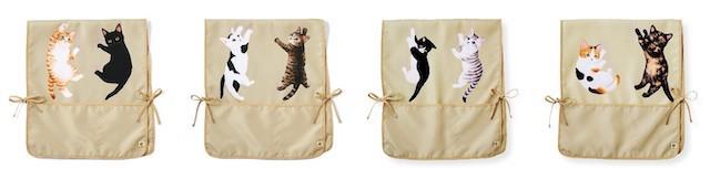猫のイスカバー4種