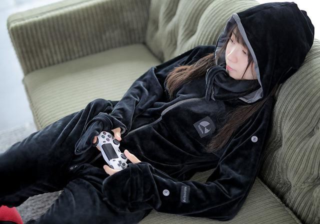 ダメ着 ダメ着4G 部屋着 パジャマ ダメになる ダメパジャマ ゲーミング着る毛布 着る毛布 人型毛布 人型