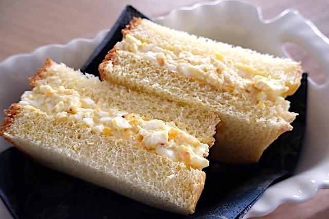 卵サンド、食パン、サンドイッチ、ブリオッシュ、簡単レシピ