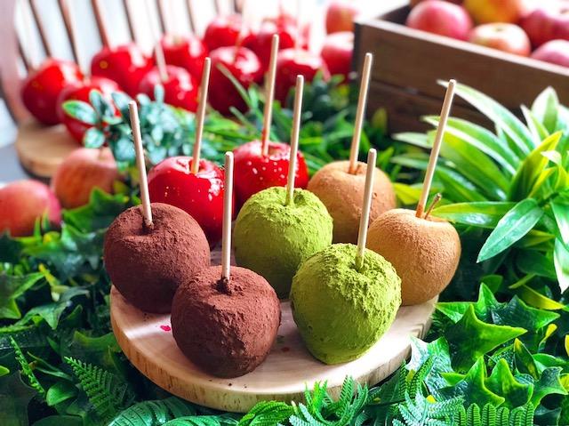 りんご飴4種