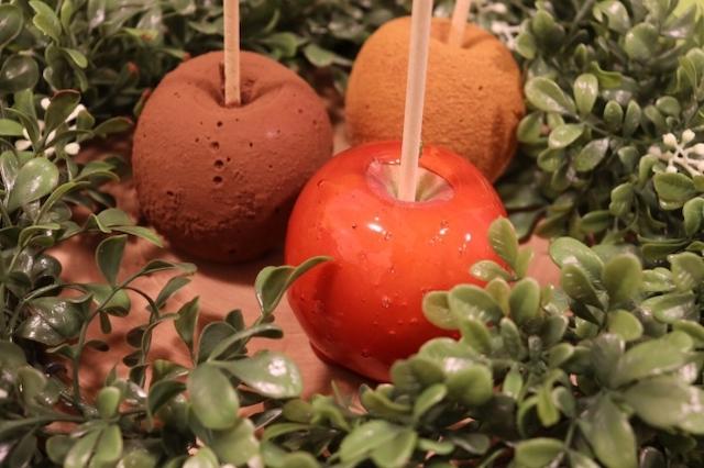 りんご飴3種