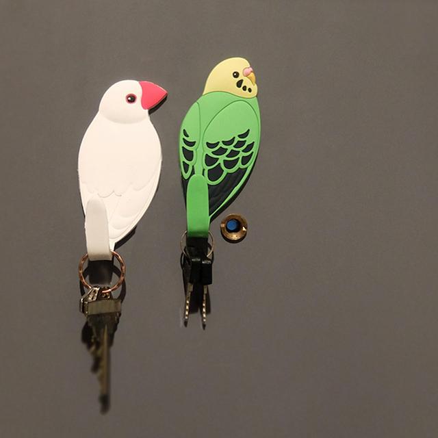 小鳥のマグネットフック