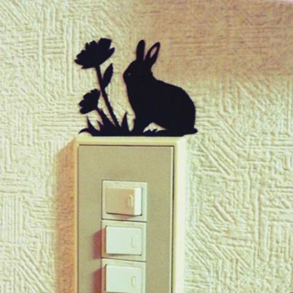 ウサギのウォールステッカー