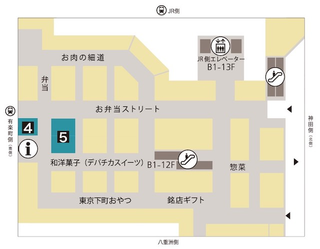 大丸東京フロアマップ