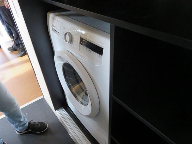「Tiny Loft」には、家庭用洗濯機の設置もOK