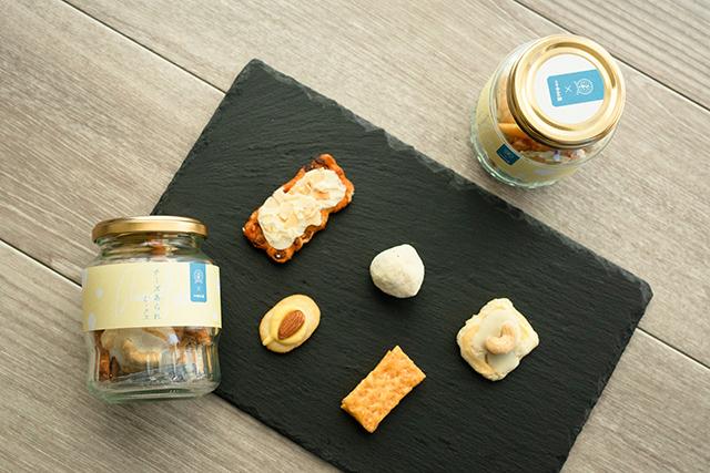 日本ガラスびん協会×新宿中村屋のコラボレーション商品「びん詰め チーズあられミックス」