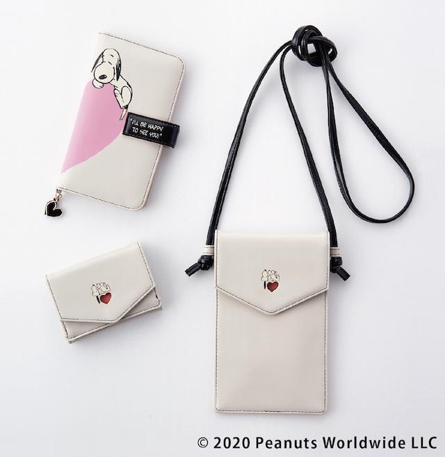 ブック型フォンケース、ミニ財布、マルチポシェット