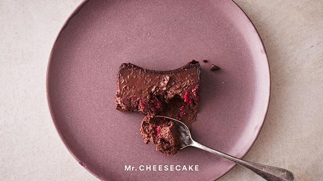 「Mr. CHEESECAKE」バレンタイン限定フレーバー「kuro Cacao Raspberry」