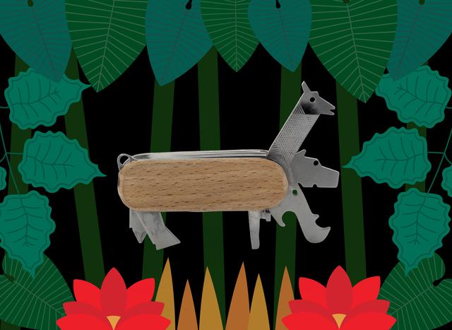 KIKKERLAND] マルチツール ハサミ ボトルオープナー 爪切り レンチ 六角レンチ ドライバー ナイフ ヴィクトリノックス キッカーランド 動物マルチツール アニマルマルチツール
