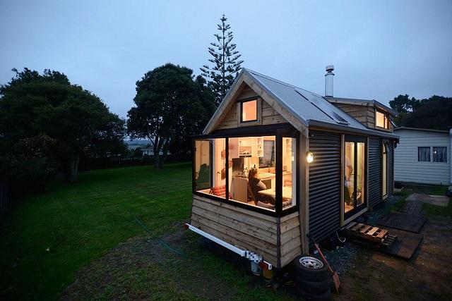 NZのカップルが建てたタイニーハウス