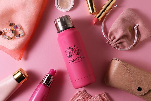 「PEANUTS Cafe×thermo mug」アンブレラボトルミニ新色ピンク
