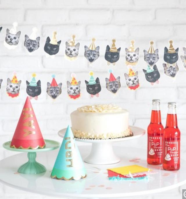 ガーランド 犬 フレンチブルドッグ ネコ ねこ 猫 ネコガーランド アニマルペーパーガーランド 飾り