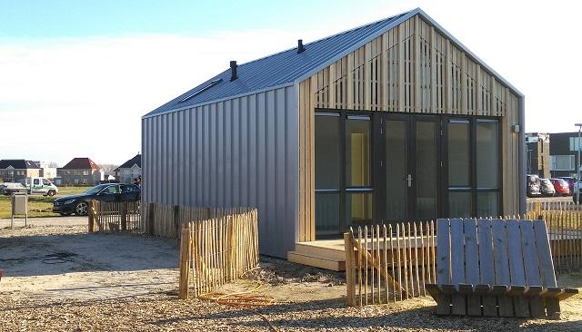 アルメレに建つ「WikiHouse」のモデルハウス