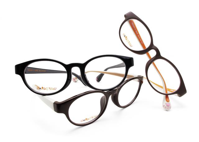 ねころりん 続・ねころりん メガネ 眼鏡 ネコ イヌ 猫メガネ イヌメガネ 猫型メガネ 犬型メガネ 愛眼 アイガン 動物メガネ