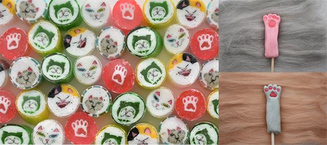 【PAPABUBBLE】ねこ祭り  「肉球・マタタビフレーバーのロリポップ」「ねこミックスキャンディ」