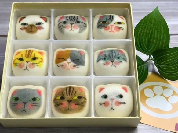 お正月 帰省土産 猫 和菓子 マシュマロ 【マシュネコ】