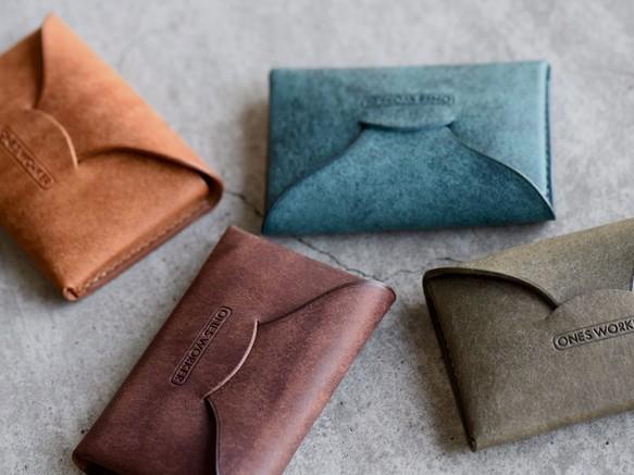 【送料無料】4カラーから選べるプエブロの名刺入れ ビジネスカードケース 手縫い
