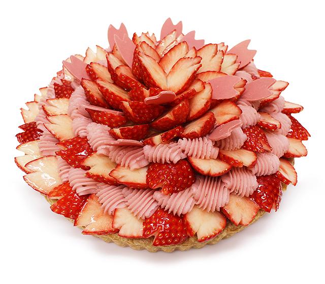 【カフェコムサ】満開~いちごと桜のケーキ~
