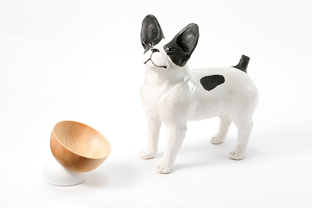 『a i u e o CASA』犬猫用 フードボウル『moon』