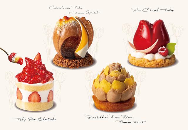 「TOKYOチューリップローズ」西武池袋店限定新作ケーキと定番の人気商品『チューリップローズショート』