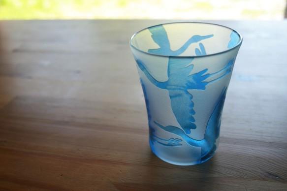 白鷺のグラス