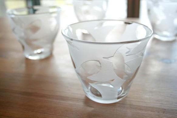 鳥模様のロックグラス(受注製作)