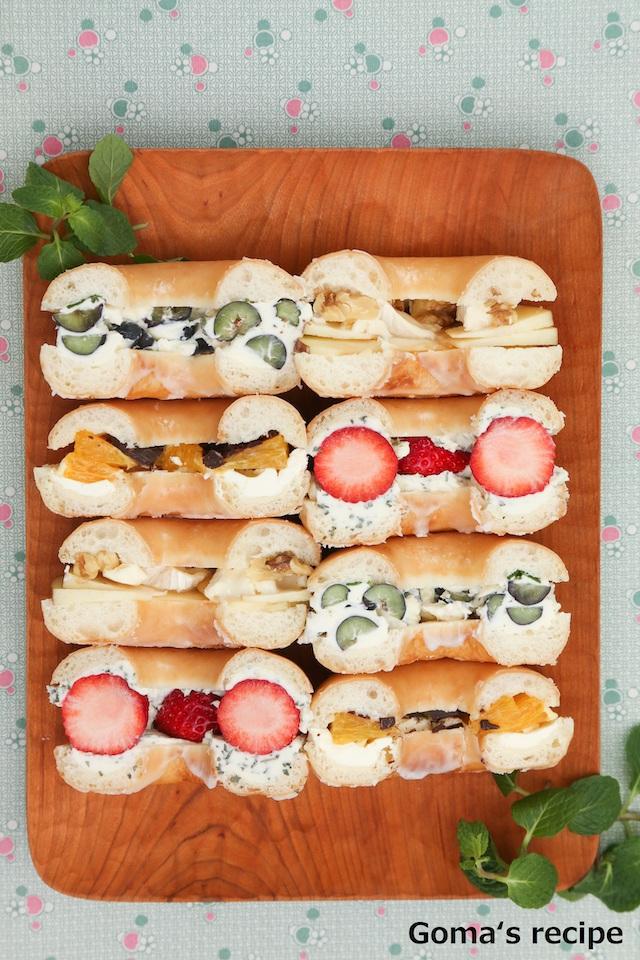 『フルーツドーナツサンドイッチ』