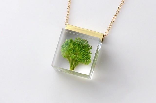 ブロッコリーのネックレス 14kgf(野菜, レジン, 送料無料)