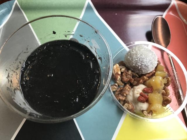 有機豆乳とココナッツの黒胡麻豆花 開封後