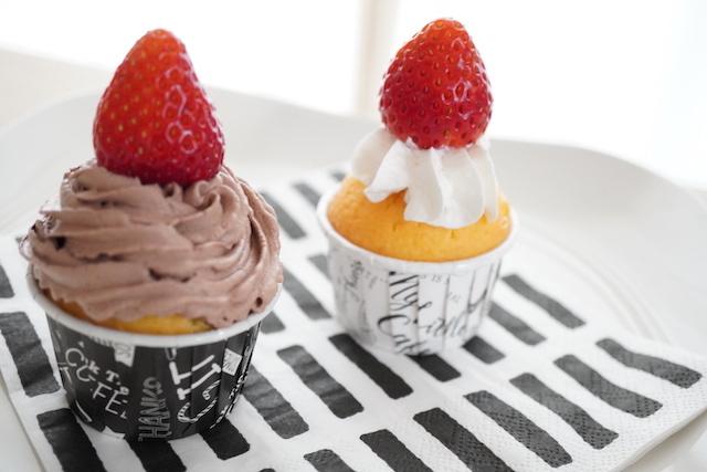 デコったカップケーキ
