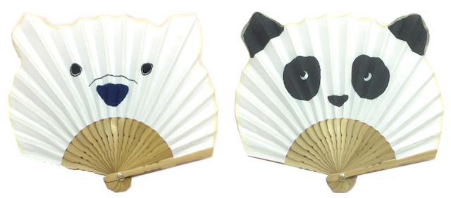 アニマル扇子 ベア(シロクマ/パンダ)