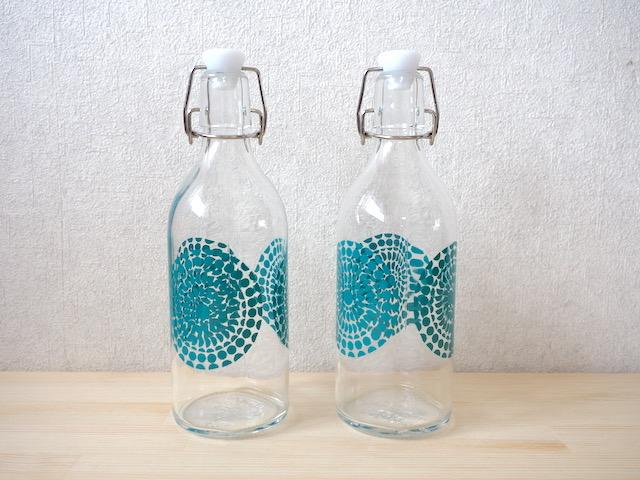 イケアのガラスボトル、KORKEN コルケン 0.5ℓサイズ