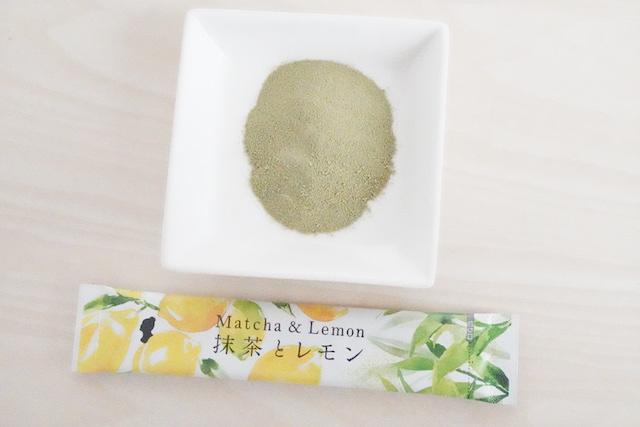 抹茶とレモン粉と袋
