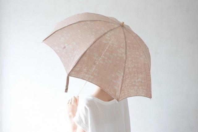 折りたたみ日傘 敷石